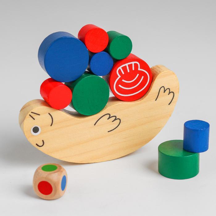 Развивающая игра балансир «Морской котик» 12,5х7х3,5 см - 12,5х7х3,5 см
