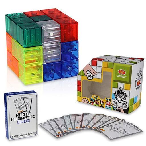 Головоломка Кубики прозрачные магнитные - 108 заданий