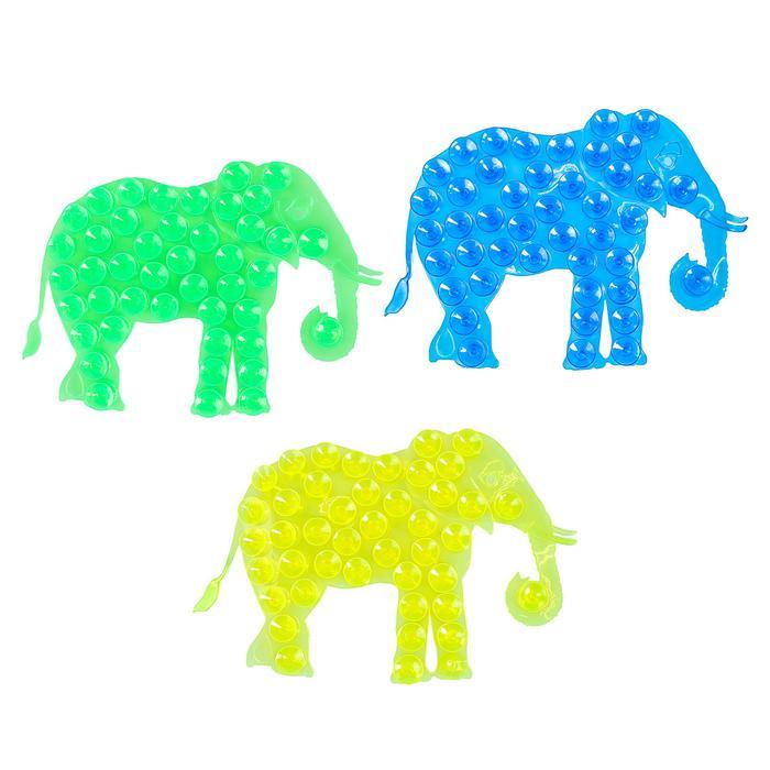 Мини-коврик для ванны «Слон» - цена за 1 шт, цвет в ассортименте, размер 9×12,5 см