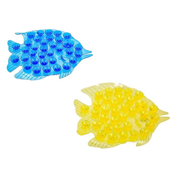 Мини-коврик для ванны «Рыбка» - цена за 1 шт, цвет в ассортименте, размер 11×12 см