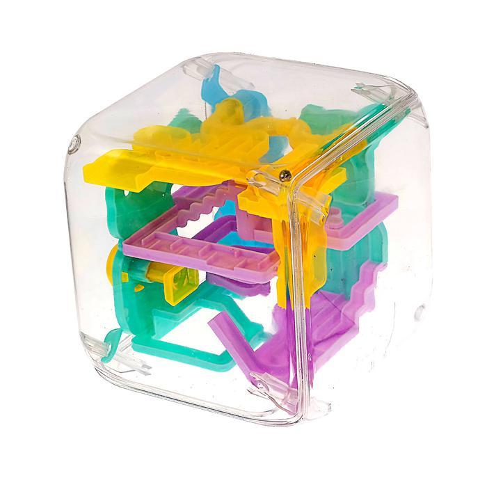 Игрушка логическая «Лабиринтус-куб» - Размер  19 см×19 см×14,5 см