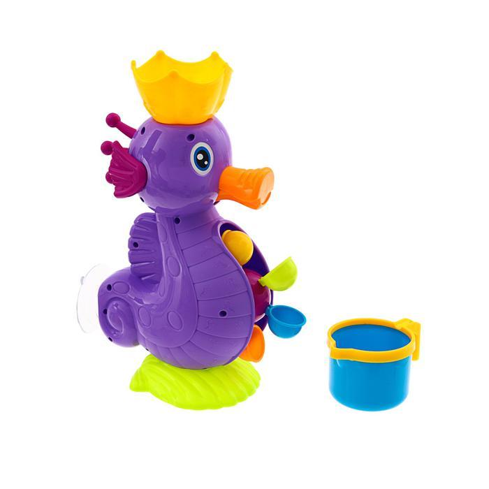 Игрушки для купания «Мельница. Морской конёк», на присоске - размер 24,3 см×10,5 см×29,5 см