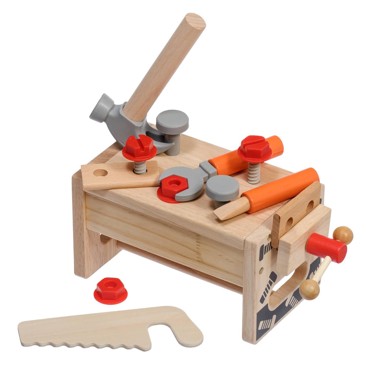 Верстак плотника деревянный набор - Деревянный верстак плотника - идеальный подарок мальчику в 1-3 года