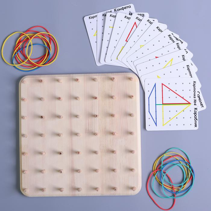 Геоборд со схемами - 12 двусторонних карточек