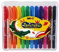 "AMOS.22943 Набор карандашей 3 в 1 ""Твистер"" 12 цв."