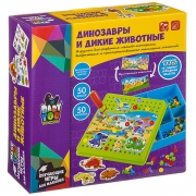 """BONDIBON ВВ3744 Мозаика для малышей """"Динозавры и дикие животные"""""""