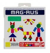 "MAG-RUS. Магнитная мозаика арт. 94А 108 эл. ""Дети и игрушки"""