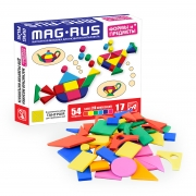 """MAG-RUS. Магнитная мозаика арт.NF1033 """"ФОРМЫ и ПРЕДМЕТЫ"""""""