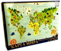 ПАЗЛЫ 60 элементов. Карта мира