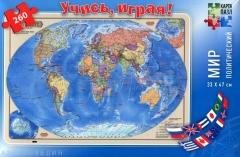 """ГеоДом. Карта-пазл """"Мир Политический"""" 260 дет. 33х47"""