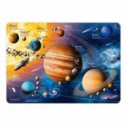 """ГеоДом. Карта-пазл """"Солнечная система"""" 260 дет. 33х47"""