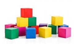 Кубики цветные 20шт.дерево (Томик)