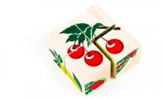 """Кубики """"Фрукты-ягоды"""" 4 шт. (Томик)"""