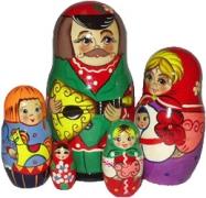 """Матрешка """"Семейка"""" 5 перс."""