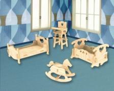 Сборная модель. Детская спальня (дерево)
