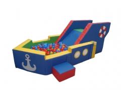 Игровой центр с сухим бассейном «Пароходик»