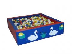 Сухой бассейн квадратный «Лебеди»