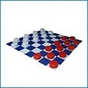 Мат складной «Шахматная доска» с шашками