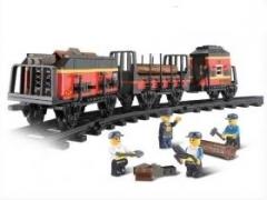 """""""Железнодорожный вокзал: Товарный поезд"""" (2 вагона, грузовая пла"""