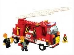 """""""Пожарная команда: Пожарная машина с лестницей"""" (в наборе фигурк"""