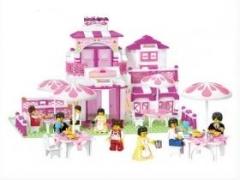 """""""Розовая мечта: Летнее кафе"""" (мебель, фигурки людей, 306 деталей"""