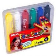Мелки- Грим 6 цветов в пластиковой сумочке AMOS