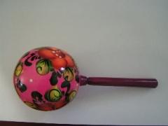 Погремушка круглая (расписная)