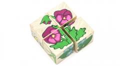 """Кубики """"Цветочки"""" 4 шт. (Томик)"""