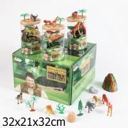 Играем вместе. Набор динозавров и диких животных в тубе арт.2537