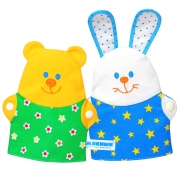 "Мякиши-игрушка на руку ""Зайка и Мишка"" арт.229"