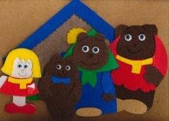 """Игры из ковролина """"Три медведя"""""""