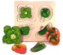 """Больше-меньше """"Овощи"""" арт.7912 развивающая доска Сегена"""
