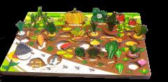 "Набор ""Овощи на грядке"" арт.7907 (3D огород, развивающая доска)"