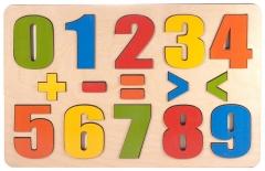 """Развивающая доска """"Разноцветные цифры"""" арт.7917 (16 деталей)"""