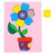 """Головоломка """"Собери картинку: цветочек"""", 18 элементов"""