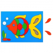 """Головоломка """"Собери картинку: рыбка """", 21 элемент"""