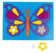 "Головоломка ""Собери картинку: бабочка"", 21 элемент"