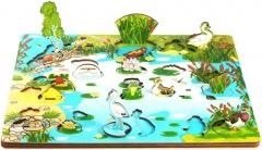 """Набор """"Обитатели пруда"""" арт.7923 (3D пруд, развивающая доска)"""