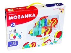 Пластмастер. Мозаика с картинками диам. 15 мм. арт.15005