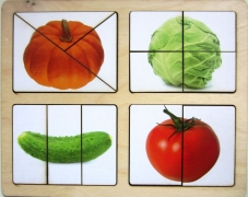 """Разрезные картинки """"Овощи-1"""""""