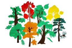 Городские деревья без игрового поля