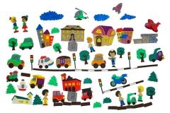 Город с машинками с игровым полем