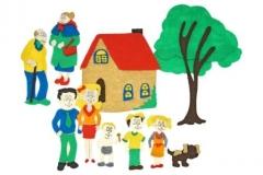 Семья с игровым полем