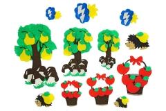"""Игры из ковролина """"Три дерева"""""""
