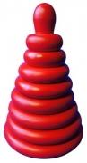 Пирамидка Красная  8 дет. Д-511