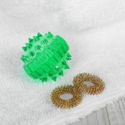 Массажер пластик универс Шарик с 2 кольцами (су джок)