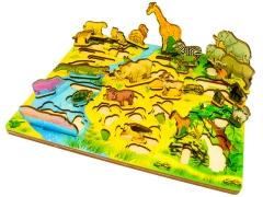 """Набор """"Водопой на Лимпопо"""" (3D африка, развивающая доска)"""