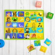 """Логическая игрушка с разрезными картинками """"Животные и их дома"""""""