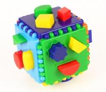 Логический куб со вставными деталями (Построй фигурки) арт.7090