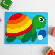 """Головоломка """"Собери картинку: черепаха"""""""